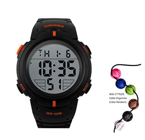 hukoer-outdoors-unisex-led-digital-multifunction-sport-watch-water-resistant-orange