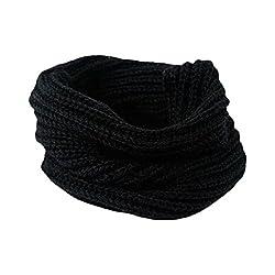 Tonwalk Women Neck Circle Warm Knit Bib Multi-purpose Scarf