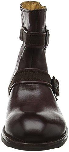 Sebago Damen Laney Mid Boot Biker Rot (Burgundy Leather)