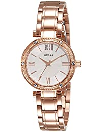 Guess Damen-Armbanduhr Ladies Dress Analog Quarz Edelstahl W0767L3