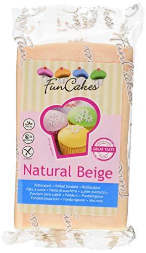 FunCakes Fondant -Natural beige 1er Pack (1 x 250 g)