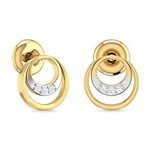 PC Jeweller The Misha 18KT Yellow Gold & Diamond Earring