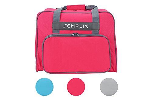 SEMPLIX Nähmaschinentasche Pink, 45x34x24 | stabile Transport und Aufbewahrungs Tasche in vielen frischen Farben, für alle gängigen Haushaltsnähmaschinen