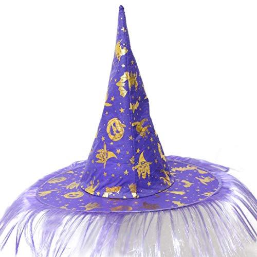 Quaan Erwachsene Damen Herren Hexe Deckel Zum Halloween Kostüm Zubehörteil Flaum Solide Abdeckung Kostüm Zubehörteil Flaum Solide Abdeckung niedlich Elegant Party Karneval Kostüm Beiläufig