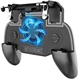 KimTok PUBG Trigger Mobile Gaming Controller with 2000mAh Power Bank and Cooling Fan(Black)