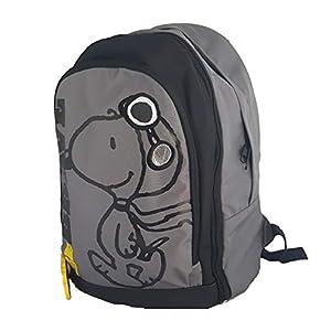 41UJ24CYceL. SS300  - SNOOPY Cartable Enfant Gris et Noir 3 Compartiments Ecole Primaire