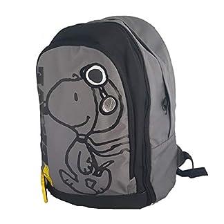 41UJ24CYceL. SS324  - SNOOPY Cartable Enfant Gris et Noir 3 Compartiments Ecole Primaire