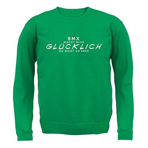 BMX macht mich glücklich - Unisex Pullover/Sweatshirt - 8 Farben Grün