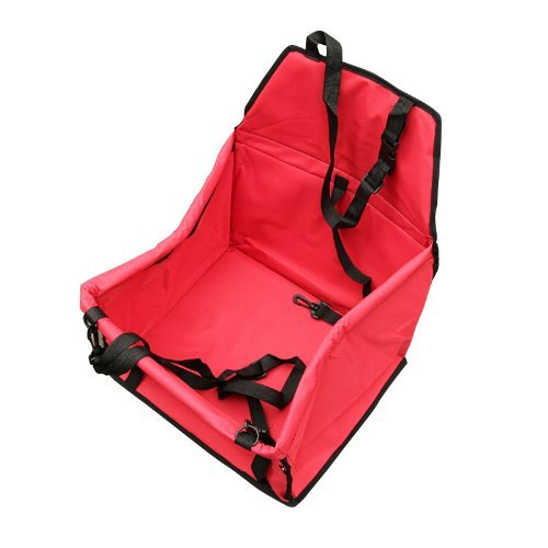 LAGUTE Auto Hundetransportbox Transportkorb Tiertragetasche Transporttasche Transportbox für Tier *Rot*