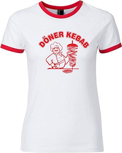 EZYshirt Döner Kebap Damen T-Shirt Rundhals - X Bemessungs Kostüm