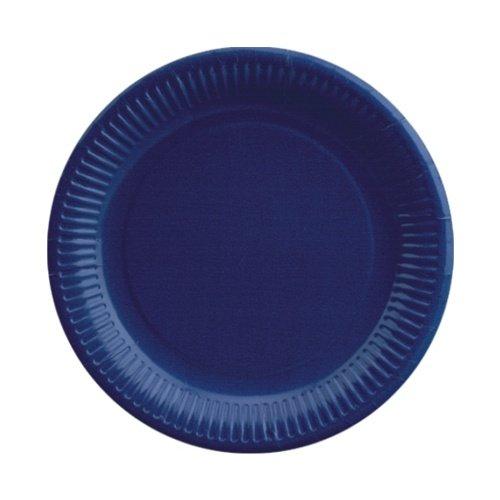 (Papstar Pappteller / Einwegteller rund, blau, (50 Stück) 23 cm Durchmesser, ideal für Feste und Feiern wie Geburtstag oder Grillabend, aus Frischfaserkarton, beschichtet und lebensmittelecht, #11979)