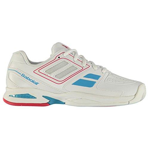 Babolat Kinder Jungen Propulse Court Tennis Schuhe Leicht Turnschuhe Sportschuhe White/Pink