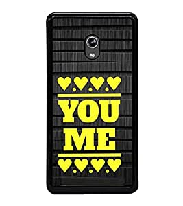 Fuson Premium 2D Back Case Cover You and me with White Background Degined for Asus Zenfone 5::Asus Zenfone 5 A500CG