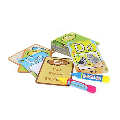 Malerei Board (0Miaxudh 26 Briefe Karte, Flash-Karte Wasser Malerei Graffit Board Kinder Früherziehung Spielzeug)