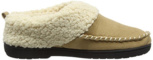 Dearfoams - Microsuede Clog With Whipstitch Tab And Memory Foam, Pantofole Donna Beige (Desert 00288)