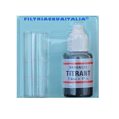 Titrant - Set zur Analyse der Wasserhärte (in französischen Grad) und des Kalkgehalts