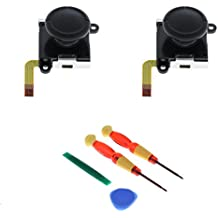 MagiDeal 2Pack Analog Joystick Control Sensor Thumb Button Game Rocker For Nintendo Switch NS Joy-con Video Game Console + 4 In 1 Tri-Wing Screwdriver Se