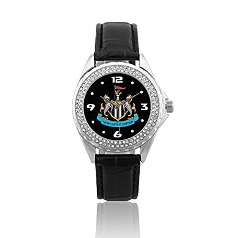 ZOOMEVERYDAY® Newcastle United 118 PCS Crystal Inlay Leather Strap Wrist