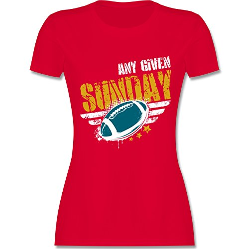 Shirtracer American Football - any Given Sunday Football Jacksonville - Damen T-Shirt Rundhals Rot