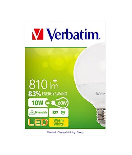 verbatim-52611-e27-10-watt-led-globe-bulb-warm-white