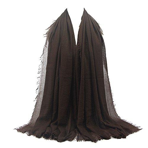 Baumwolle und Leinen Muslim Schal, Baotou, Wollschal, Oyedens Premium Viskose Maxi Crinkle Cloud Hijab Schal Schals Weichen Islam Muslim
