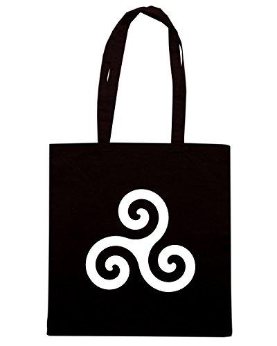 T-Shirtshock - Borsa Shopping T1058 triskele religioni celtic Nero