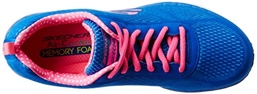 Skechers Air Infinity, Fitness Femme Bleu (Bleu/Rose)