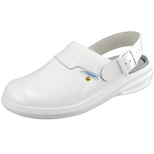 Abeba 37620-43 Easy Chaussure sabot ESD Taille 43 Blanc
