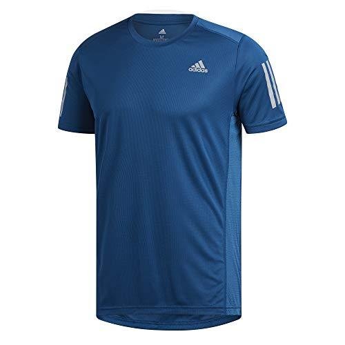 Marines Herren-tee (adidas Herren OWN The Run Tee T-Shirt, Legend Marine/Reflective Silver, XS)