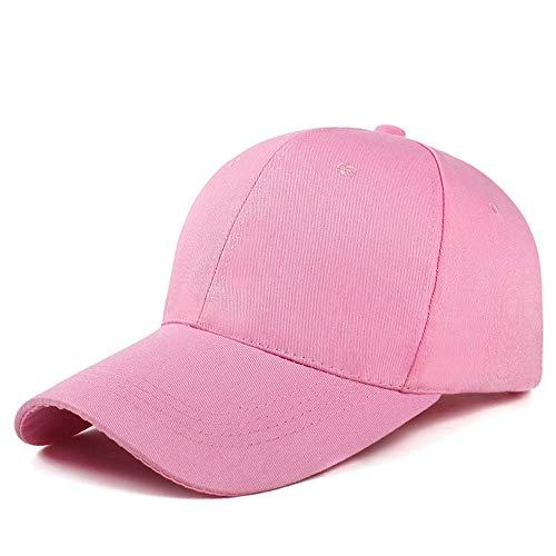 Loe Womens Baseball Cap Verstellbarer Hut 100% Baumwolle Herren Hut Outdoor atmungsaktiv Sport Cap, Laufen, Angeln, Sonnenschutzkappe (Color : Pink) -