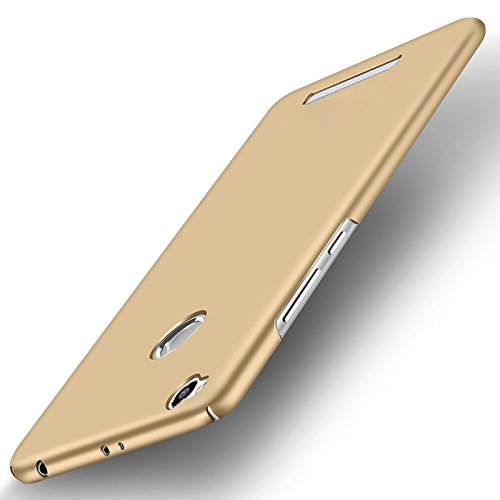 "WOW Imagine(TM) All Sides Protection ""360 Degree"" Sleek Rubberised Matte Hard Case Back Cover For XIAOMI MI REDMI 3S PRIME - Champagne Gold"