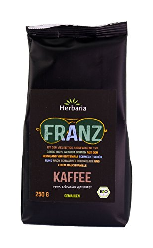 Herbaria Bio Kaffee 4er Probierset, Franz, Fritz und Rudi (gemahlen), Josef (ganze Bohne), 4 x 250 g