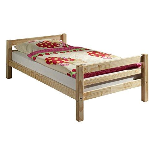 IDIMEX Einzelbett Bett Jugendbett Bettgestell MAX Kiefer 90x200 cm natur lackiert