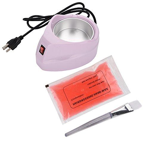 Gigi Wachs-kits (Wachs Heizung Kit, Paraffin Hartes Waxing Heater Enthaarungs-Wachs-Wärmer Faical Haar Abbau Werkzeug(Lila))