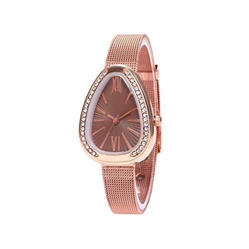 Anqeeso Frauen-Retro-Armbanduhr, Quarzschlange-Kopf-Form-römische Skala-Uhren