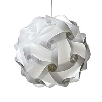 XL Ceiling Lamp Shade white - Modern Pendant Jigsaw Lighting Size : XL- Flatpack 35 cm Diameters After Assemble