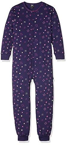 Schiesser Mädchen Zweiteiliger Schlafanzug Overall, Gr. 92 (Herstellergröße: 092), Blau (dunkelblau