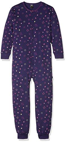 Schiesser Mädchen Zweiteiliger Schlafanzug Overall, Blau (Dunkelblau 803), 116