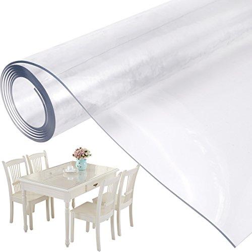 Mantel Transparente PVC Plástico Grueso Impermeable