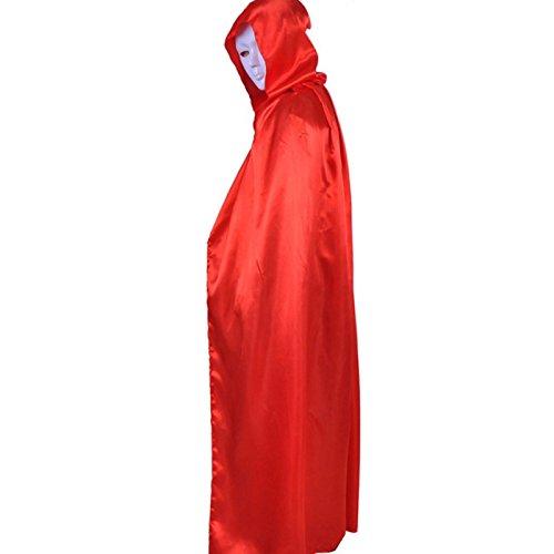 Yalulu Damen Herren Mantel Vampir-Kostüm Halloween Umhang Karneval Fasching Kostüm Cape mit Kapuze (Vampir Mantel Herren Kostüme)