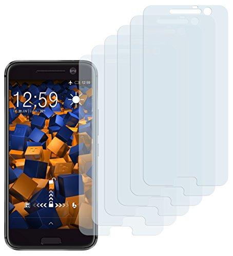 mumbi Schutzfolie kompatibel mit HTC 10 Folie klar, Bildschirmschutzfolie (6x)