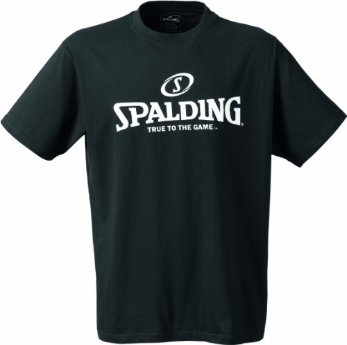 Spalding Basketball-Fanartikel Logo T-Shirt Herren, schwarz, 2XL