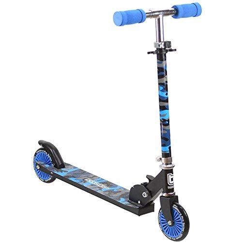 El patinete bopster de 2 ruedas tiene todo lo que necesita un patinete para hacer más rápido el camino al colegio.    Este patinete tiene una estructura robusta pero ligera de 2,8 kg, un mecanismo de plegado fácil mediante un clip de palanca y un ...