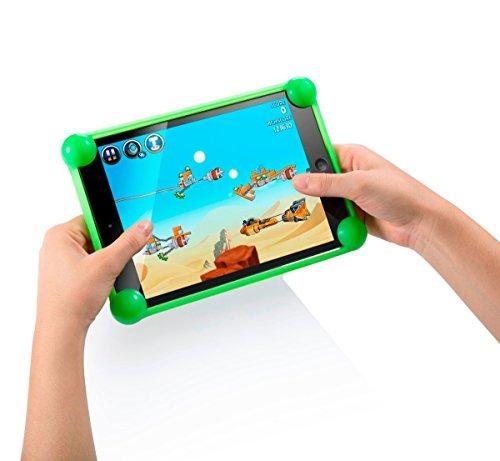 """cover tablet asus 7 pollici Cover tablet 7 pollici silicone universale Unitab® prodotto brevettato compatibile con tutti i modelli e le marche di tablet da 7 """" sul mercato custodia tablet 7 pollici universale verde"""