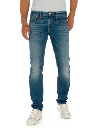 Replay jeans dritto uomo pantaloni Anbass, Blau (Blue Denim 9), 48 IT (34W/30L)