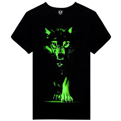 JARLIF -  T-shirt - Uomo nero (Wall Street Skeleton)