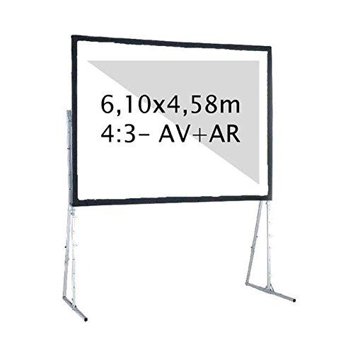 Kimex 046–3010K Projektionsleinwand, Koffer 6,10x 4,58m, Format 4/3, Projektion vorne + hinten