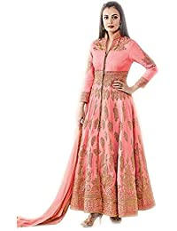 Exclusive Designer Blue peach silk unstitched suit