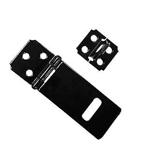 Sharplace Door Safety Lock Black Iron Padlock Hasp Staple Set Gate Shed Latch With Screws 75x33mm