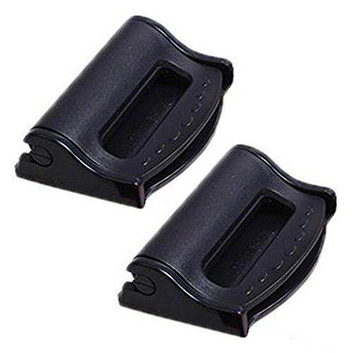 bodhi20002Pcs Auto Kunststoff Sicherheitsgurt Clips Sicherheit Stopper verstellbar Schnalle, plastik, schwarz, Einheitsgröße (Auto Sitz Stopper)